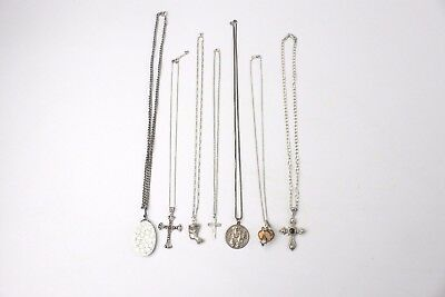 Lot of 7x .925 STERLING SILVER Necklaces & Pendants Mixed Designs - 98g