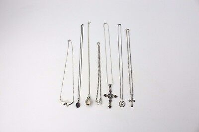 Lot of 6x .925 STERLING SILVER Necklaces & Pendants Mixed Designs - 72g