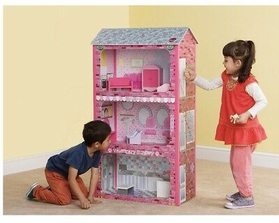 Plum Plaza Large Wooden Dolls House Gift Role play Creative