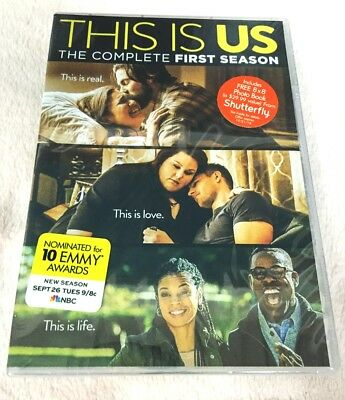 This Is Us: The Complete First Season 1 (DVD, 2017, 5-Disc Set) Brand New!!