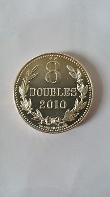 1 Oz 99.9% Fine Silver Coin - Guernesey Mint 8 Doubles 2010