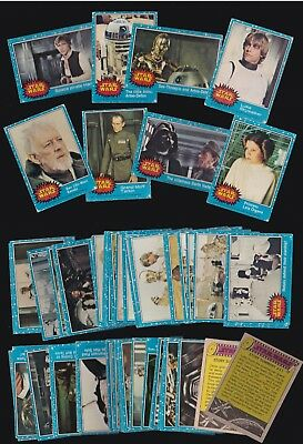 Star Wars - A Complete Classic Topps 1977 Blue / 1St Series Set