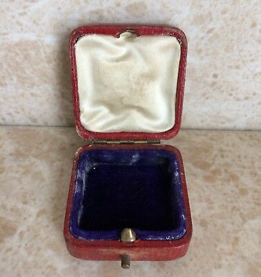 Red Leather Jewellery Box
