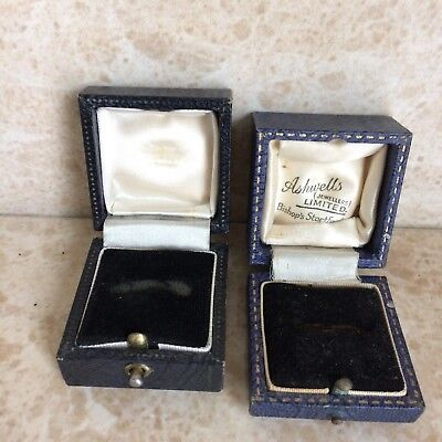 Two Antique Jewellery Ring Boxes