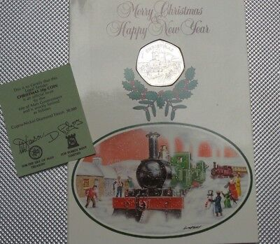 1984 First Day Cover 50P Coin Isle Of Man Christmas  Collection  {8}