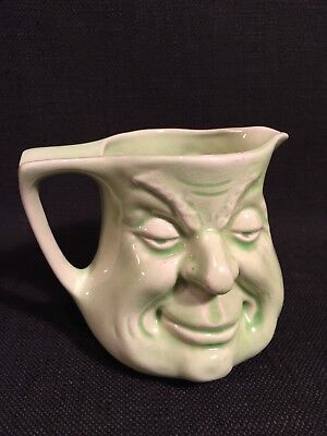 Vintage Before & After Green Character Jug, Rd 852900
