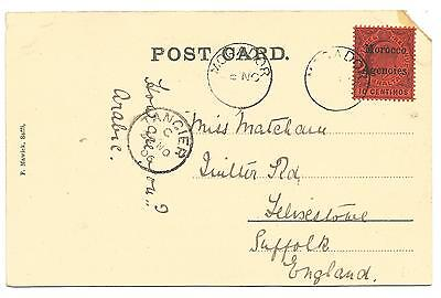1906 picture postcard from Mogador via Tangier to UK KEVII 10c SG 25