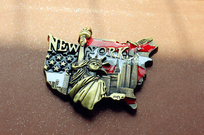 Statue of Liberity New York City USA Reiseandenken 3D Metall Kühlschrankmagnet