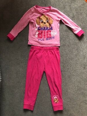 Mothercare Paw Patrol Girls Pyjamas, Aged 3-4, Pink, Long Sleeves And Trousers