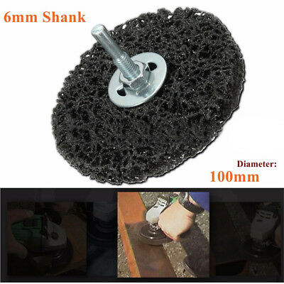 100mm Poly Strip Wheel Paint Rust Remover Clean Angle Grinder Discs 6mm Shank
