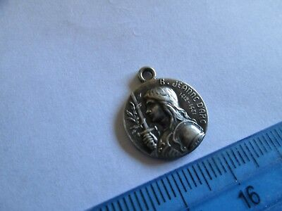 French Jeanne D'Arc silver medal medallion pendant lot 1