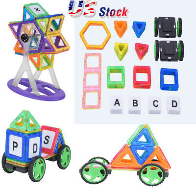 Magnetic Blocks Kids Building Toys 64Pcs Creativity Educational Christmas Gift