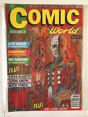 COMIC COLLECTOR Issue No 9 NOVEMBER 1992 UK Horror Issue CLIVE BARKER