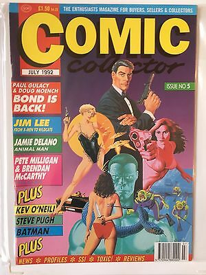 COMIC COLLECTOR Issue No 5 JULY 1992 UK Comic Magazine