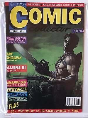 COMIC COLLECTOR Issue No 4 JUNE 1992 UK Master of Horror JOHN BOLTON