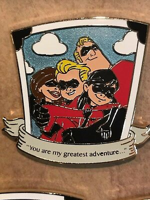 Love Is An Adventure Quotable Incredibles LE 300 Pin Disney Pin