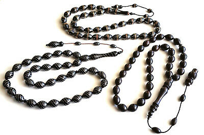 Lot of 3 collectible  Prayer Worry Beads Tasbih Tasbeh