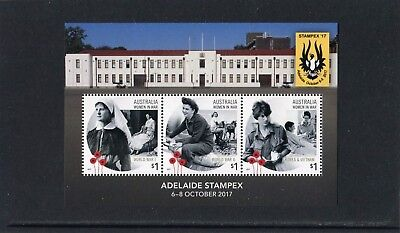 2017 Adelaide Stampex 17 Women In War Mini Sheet Mint Never Hinged, Recent Issue