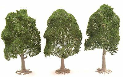 Deciduous Model Tree 120mm Mid Green Pack of 3 by WWS – Scenery Landscape