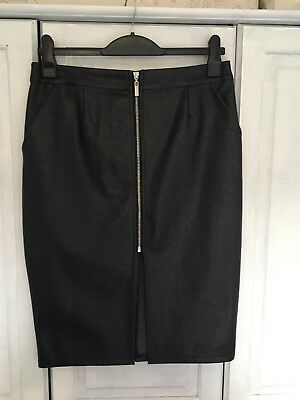 Size 14 Leather Look Pencil Skirt