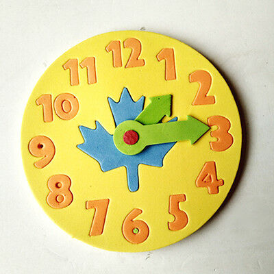 1Piece Kids DIY Clock Learning Education Toys Jigsaw Puzzle Game for Kids HGUK