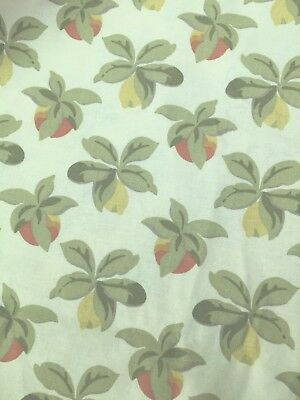 Vintage Laura Ashley fabric piece 1986 - fruit -quilting patchwork sewing 1metre
