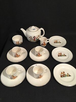Vintage Beswick Walt Disney Mickey Mouse Piper Pig Bambi Thumper Tea Set