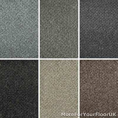 Cheap Flecked Textured 7mm Loop Pile Carpet Hardwearing Felt Backed Hall Lounge