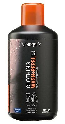 Grangers Clothing Wash Repel 1 Litre Cloth Cleaning Proofing Powerful One Wash