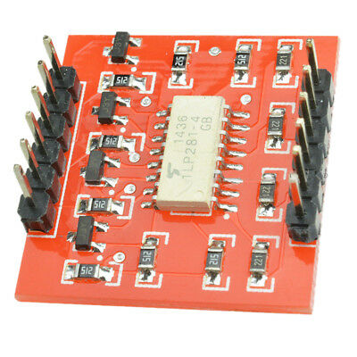 2X(1 pcs TLP281 4-Channel Opto-isolator IC Module Arduino Expansion Board M9O4