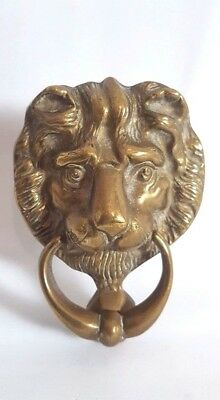 Vintage Brass Lion Head Door Knocker Lions Architectural Antique