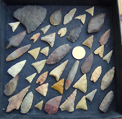 CLEARANCE!!! Neolithic Flint arrow heads, be quick, perfect4 schools ONLY £1.99
