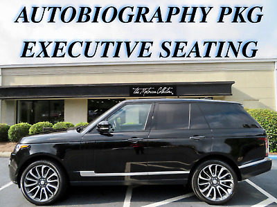 2015 Land Rover Range Rover Autobiography AUTOBIOGRAPHY WITH EXECUTIVE REAR SEATING. CLEAN CARFAX CERTIFIED