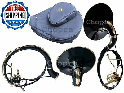 """!! Christmas Sale Sousaphone 3V Painted 21"""" Bell Black Bb 3 Valve with Bag+M/ P"""