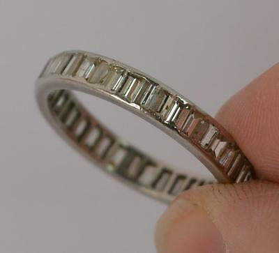 Art Deco 2.00 Carat Diamond and 18ct White Gold Full Eternity Stack Ring d0700