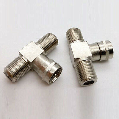 2Way F-Type Splitter cable Combiner RF Adapter Joiners TV Coaxial Connectors Hot