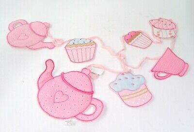 Kitchen Cooking Bunting Garland Cup Cake and Tea party padded Bunting