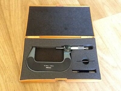 Micrometer Mitutoyo 75-100mm Vintage With Case