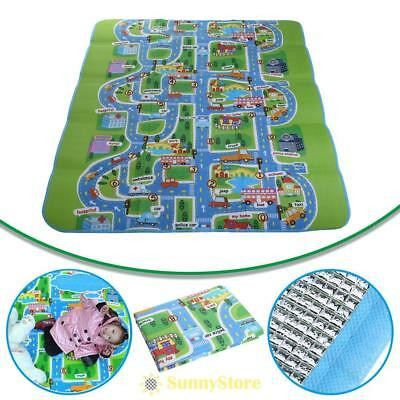 200 x 160cm Single-Side Kids Crawling Educational Game Play Mat Soft Foam Carpet