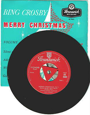 Bing Crosby, Merry Christmas Vol 1- Brunswick  PS EP UK 1958  For Your Jukebox