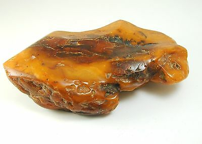 Natural raw unpolished baltic amber piece butterscotch 512.7 grams