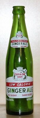 "CANADA DRY ""LOW CALORIE"" - 10oz POP/SODA BOTTLE - TORONTO, ONTARIO"