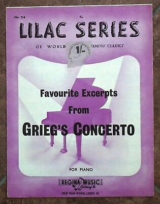 Favourite Excerpts from Grieg's Concerto - Song/Music sheet.