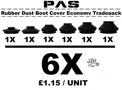UNIVERSAL MEDIUM TRACK ROD END BALL JOINT RUBBER DUST BOOT COVERS COMBO PACK 3X