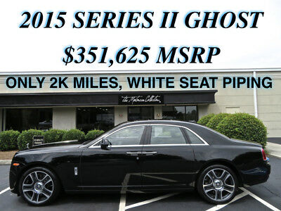 2015 Rolls-Royce Ghost  MSRP $351,625.00 ONLY 2900 MILES! JUST ARRIVED! 1-OWNER CLEAN CARFAX CERTIFIED!