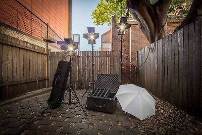 Lupolux LED Studio Lighting Kit With 1620 Pelican Case & Manfrotto Light Stands