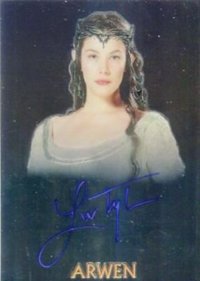 Lord of Rings Trilogy Chrome Liv Tyler as Arwen Autograph Card