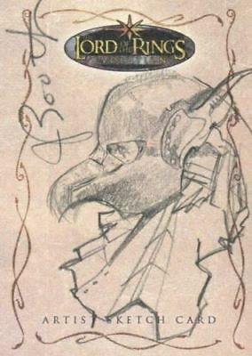 Lord of Rings Evolution Sketch Card by Joseph Booth Frodo in Helmet