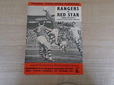 Rangers V Red Star (Bratislava) 1959-60 European Cup 2Nd Round At Ibrox