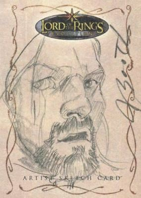 Lord of the Rings Evolution Sketch Card by Joseph Booth Boromir